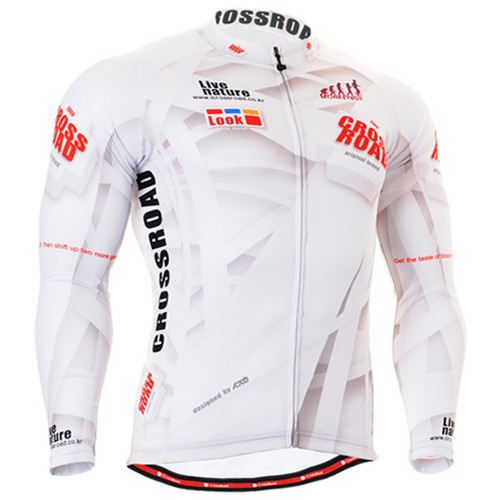 Fixgear mens biking winter white jersey