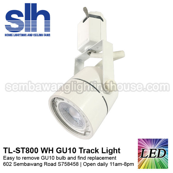 TL-ST800 White 6W GU10 LED Track Light (Removable)