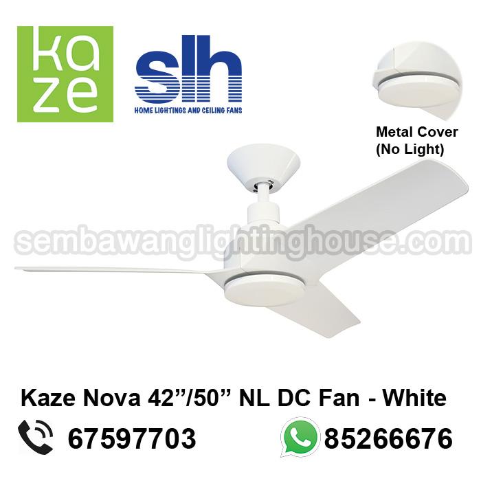 Kaze Nova 4250 Dc Ceiling Fan No Lightwhite Sembawang