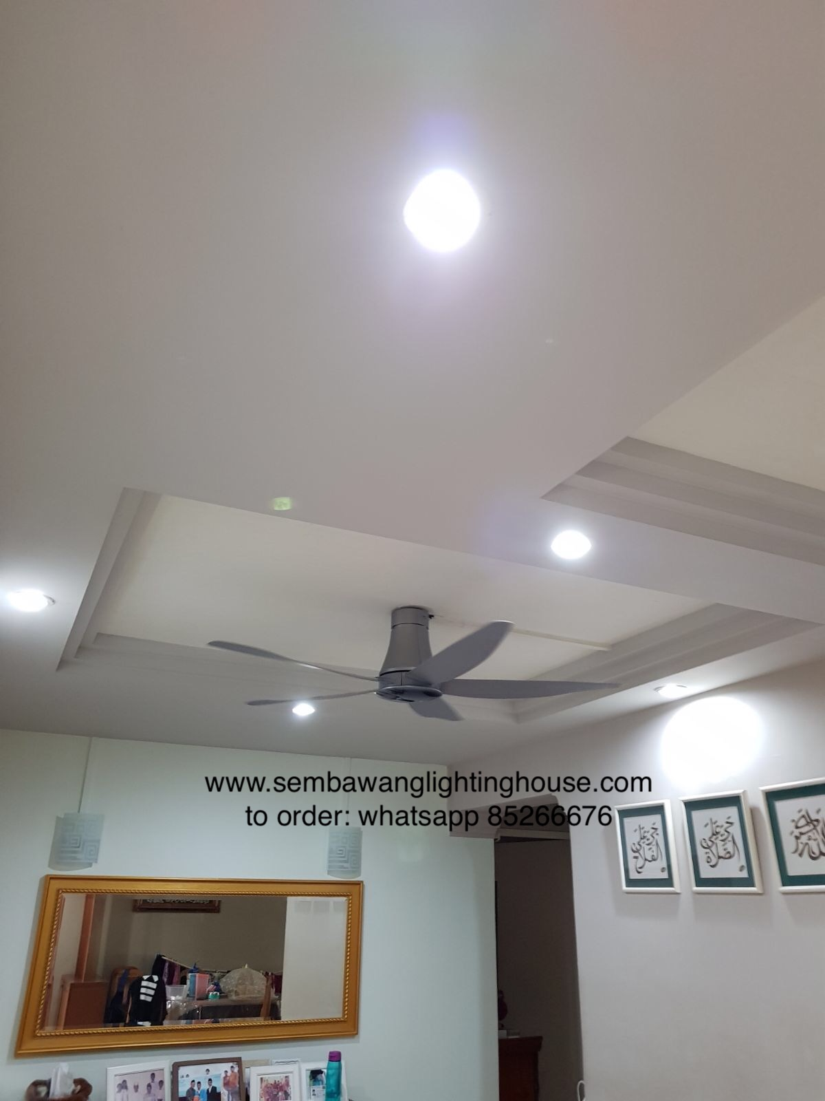 KDK T60AW ceiling fan in living room | Sembawang Lighting House