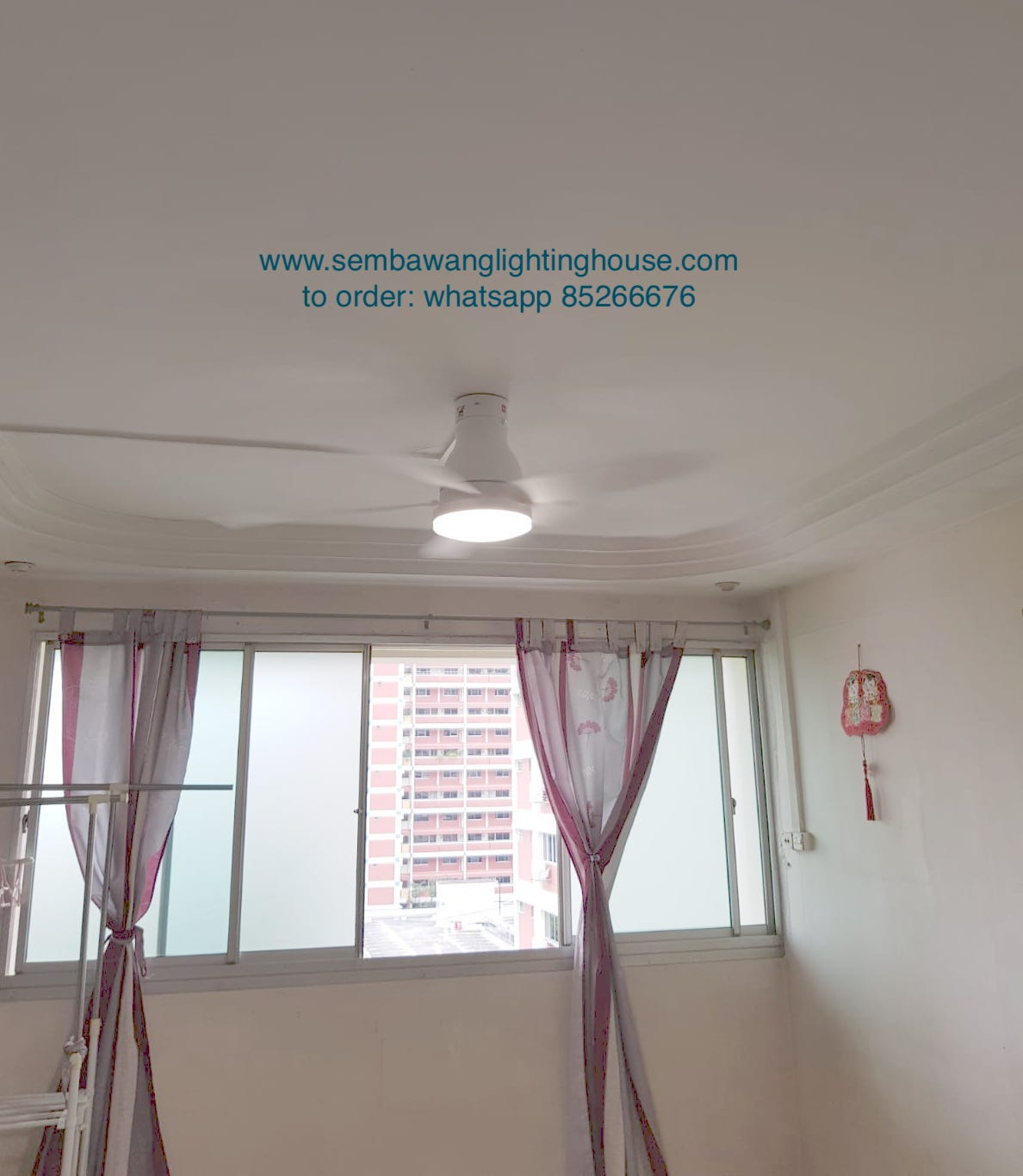 KDK U60FW White Ceiling Fan Sample in HDB Living Room