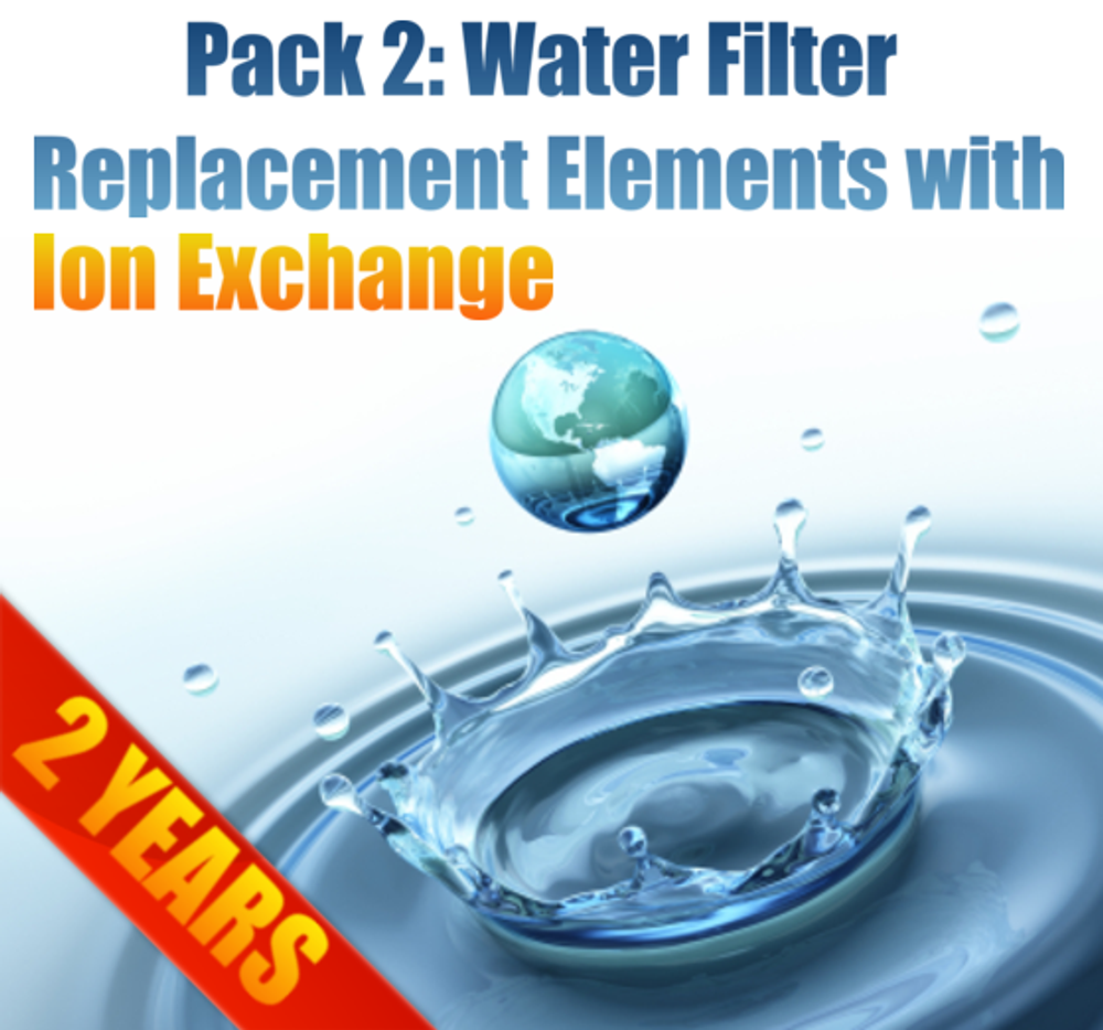Pak 2 MAXI Filter Replacement Elements with Ion Exchange Element