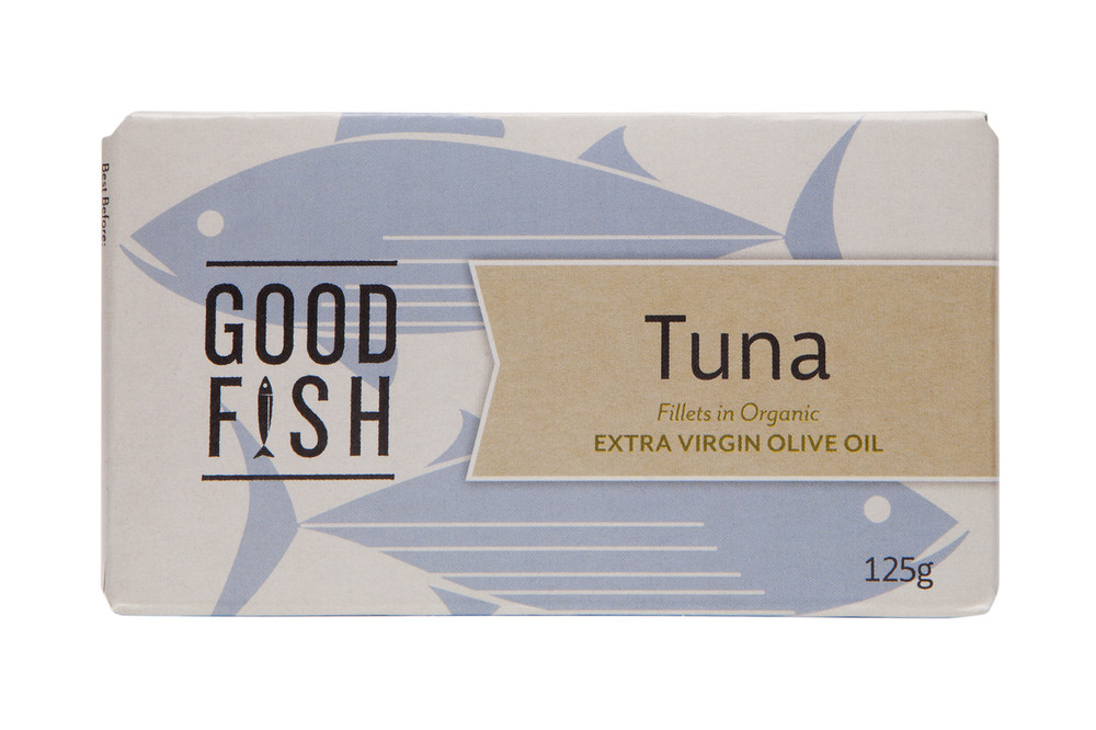 SKIPJACK TUNA Fillets in Organic Extra Virgin Olive Oil 125g CAN