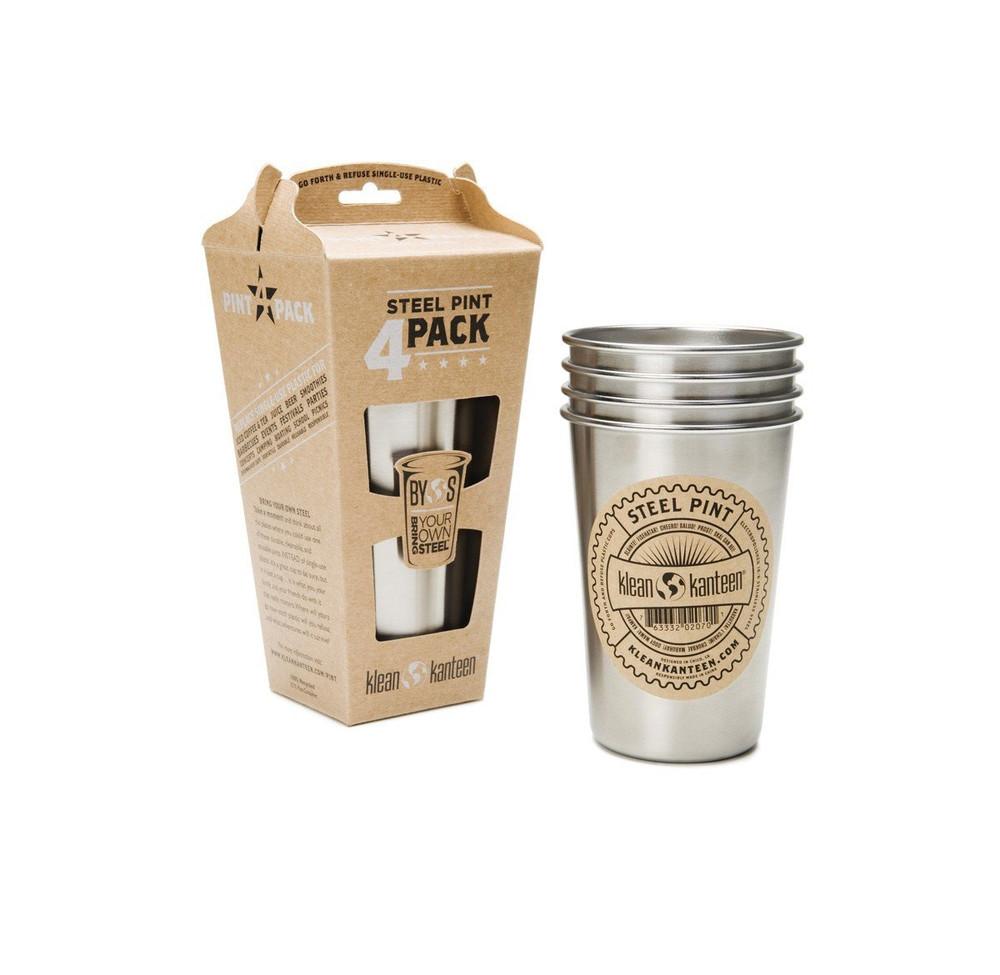 Steel Pint CUPS 16oz (473ml) - 4 Pack