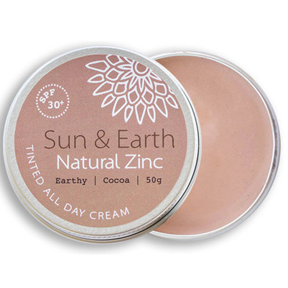 Sun & Earth Natural Zinc Protection Day Cream: Earthy Cocoa