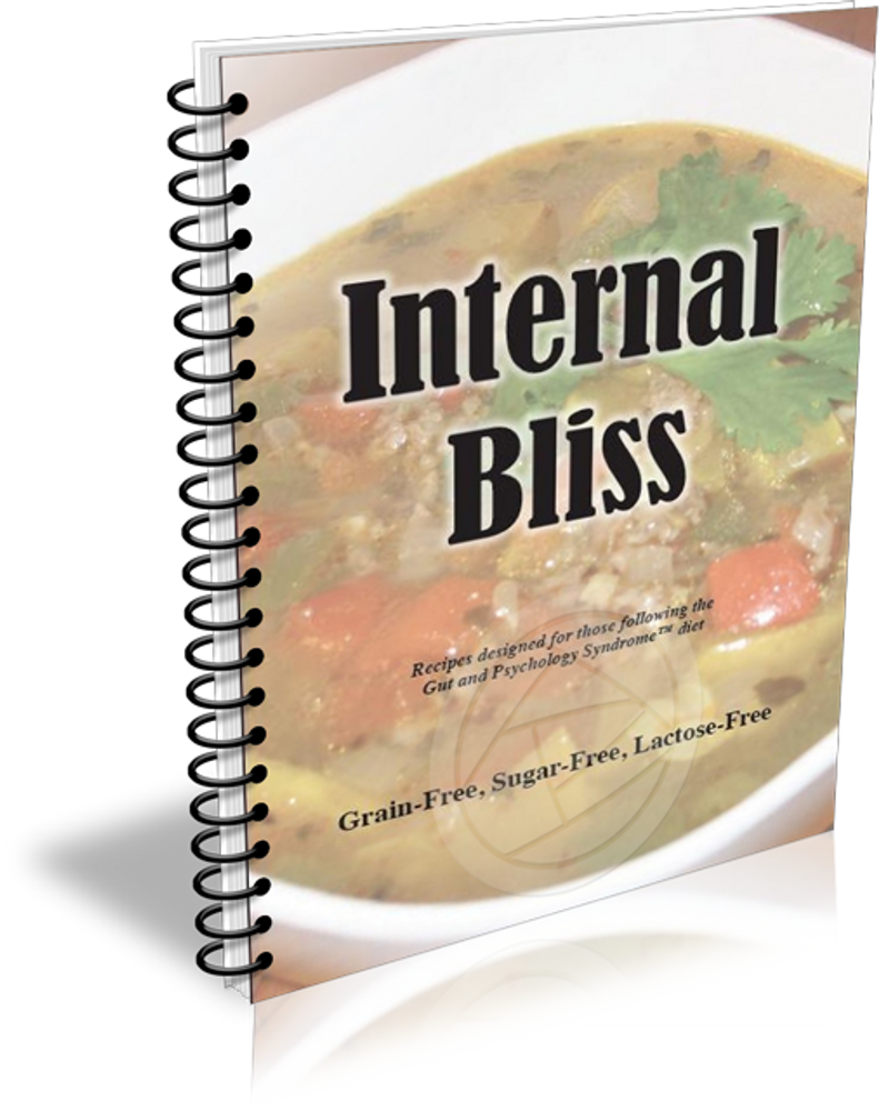 Internal Bliss Cook Book for GAPS - Out of Stock