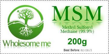 MSM - Methyl Sulfonyl Methane 200g