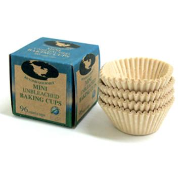 Mini unbleached Baking Cups: 96