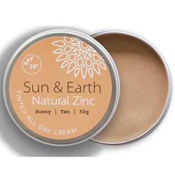 Sun & Earth Natural Zinc Protection Day Cream: Sunny Tan