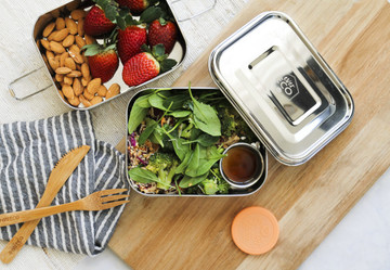 MINI Stainless Steel Round Containers: Set of three