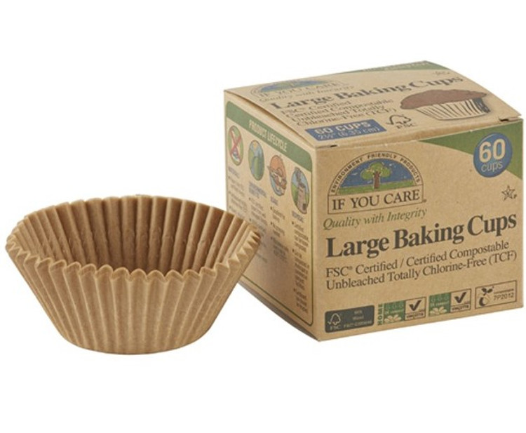 Unbleached Baking Cups: 60