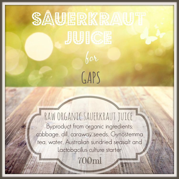 ORGANIC Sauerkraut Juice for GAPS:  700ml  DSICONTINUED