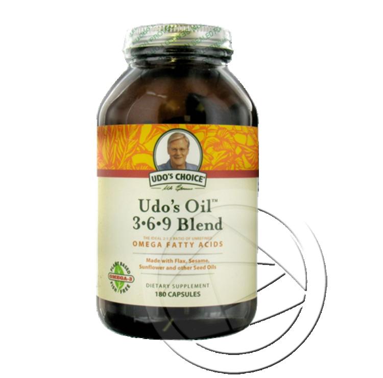 Udo's 3.6.9 Oil Blend: 90 CAPSULES