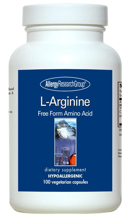 L Arginine Amino Acid 100 Veg Caps 500mg