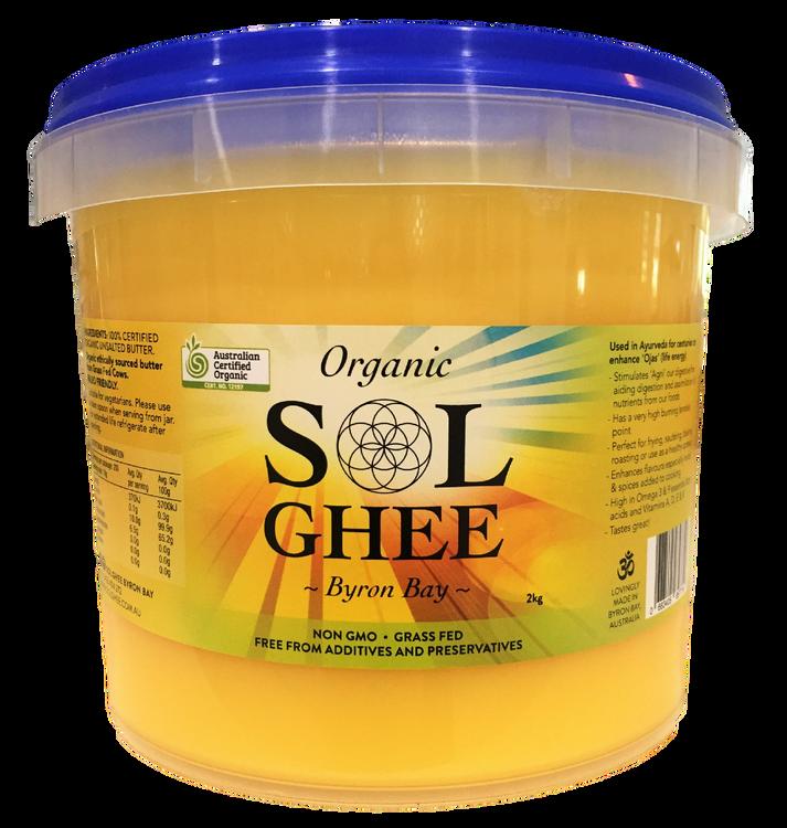 Organic Sol Ghee: LARGE 2KG BUCKET