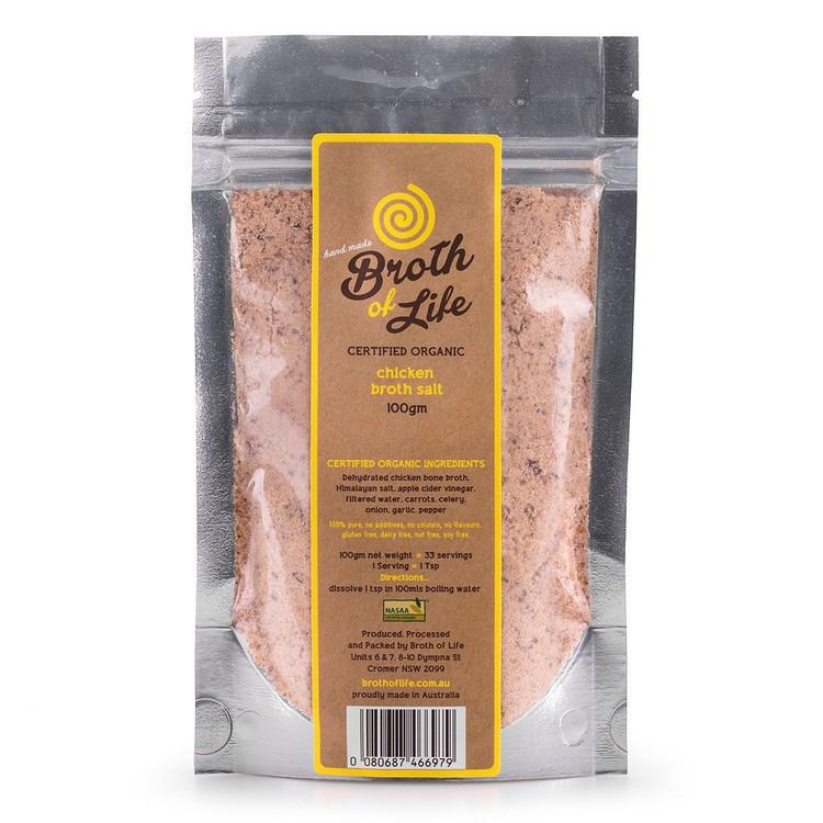 Organic CHICKEN BROTH SALT: 100grams