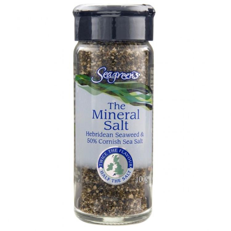 Seagreens Mineral Salt -  Seaweed & Sea Salt: 90g - Expiry end of April