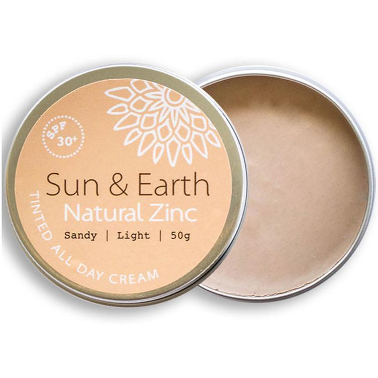 Sun & Earth natural Zinc Protection Day Cream: Sandy Light
