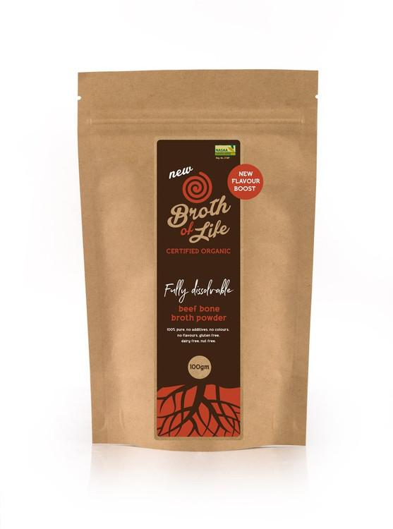LARGE - Organic Dehydrated BEEF Broth: 100grams