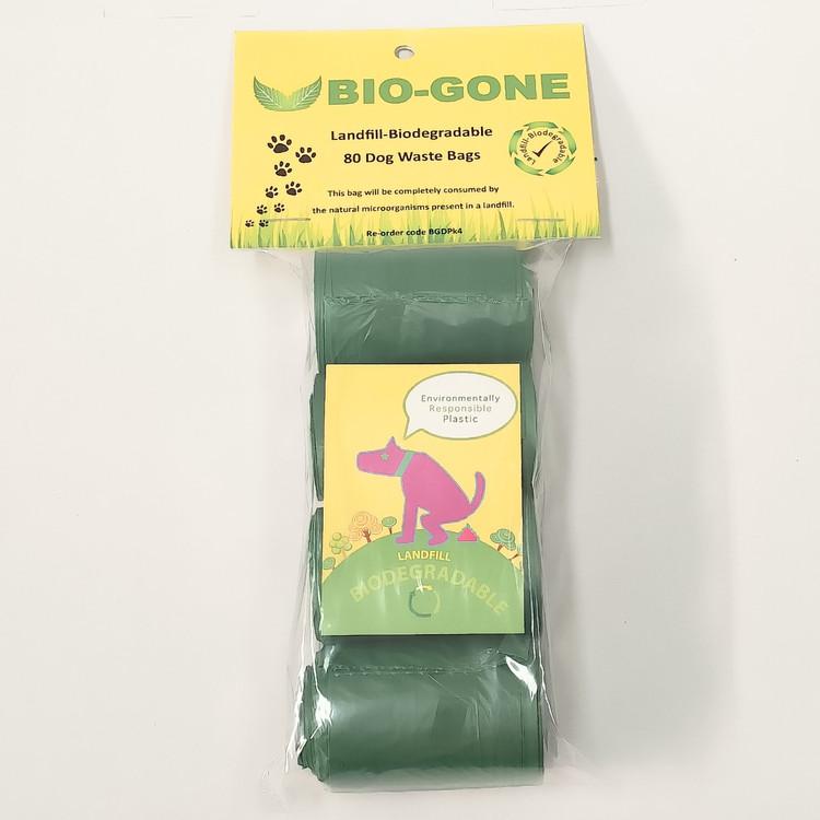 BioGone Landfill-Biodegradable dog waste bags - 80 bags