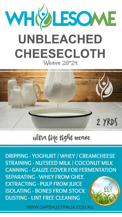 Unbleached Tight Weave Cotton Cheesecloth: 2 Yards