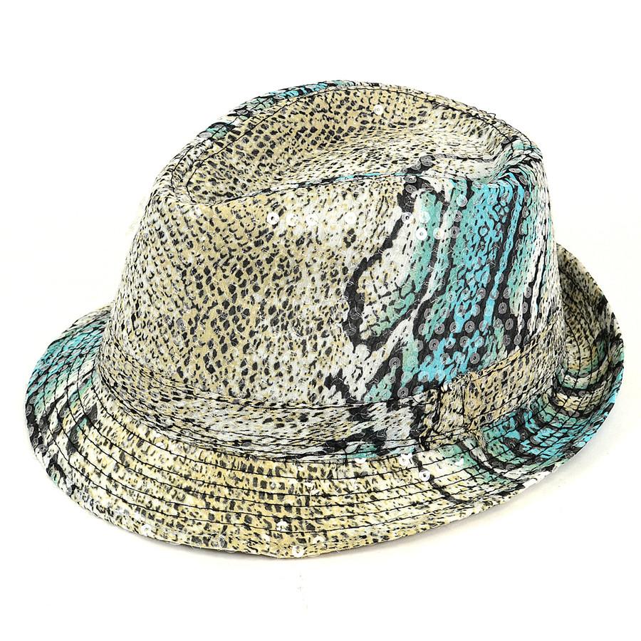 Men's Sequin Fedora Hat H5623