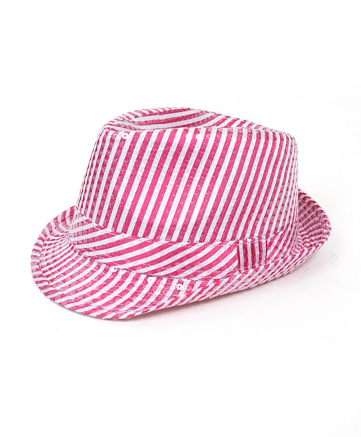 6pc Sequin Fedora Hat H5631