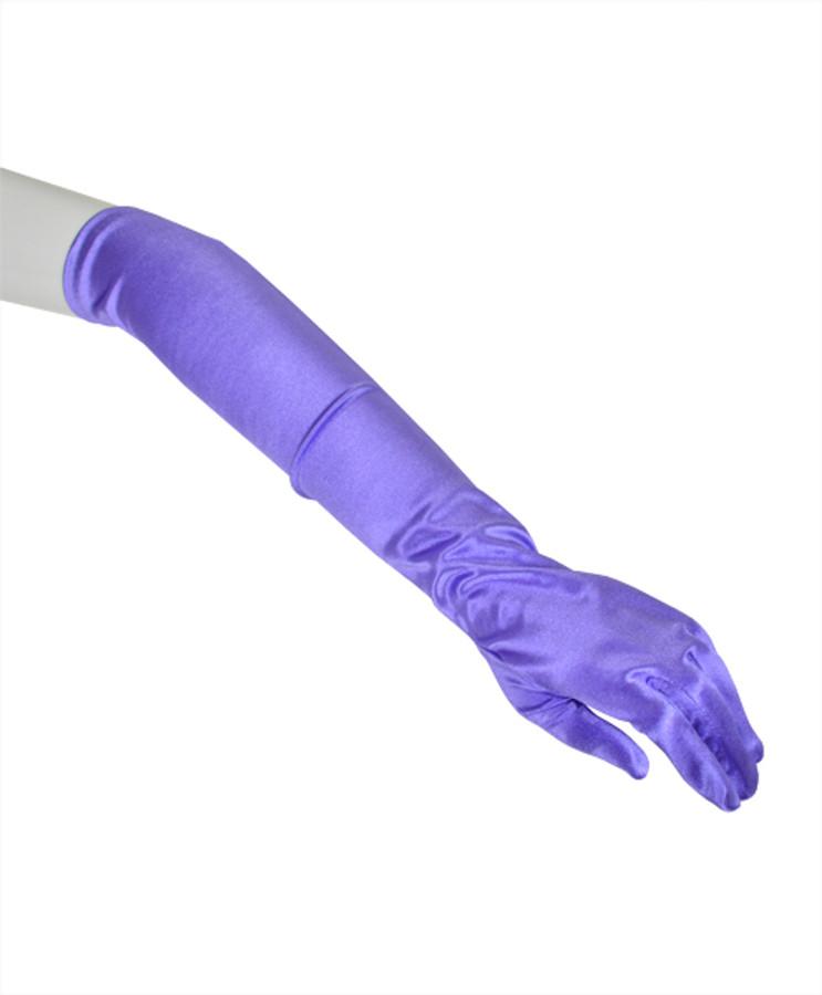 Satin Above Elbow Length Gloves S12BL