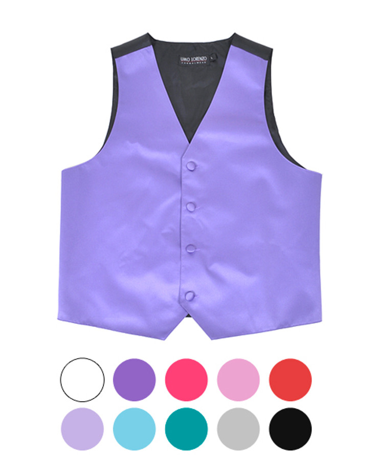 Boy's Solid Poly Satin Vests BSV3501