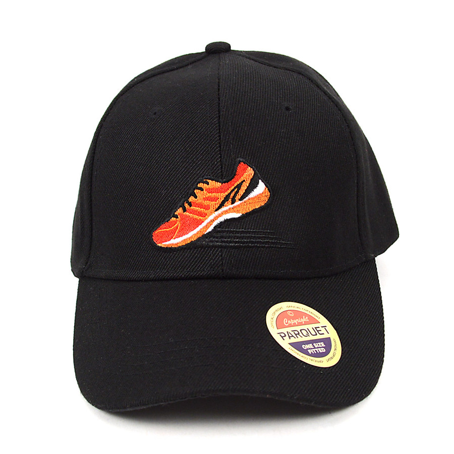 Sneaker Black Embroidered Baseball Cap (BCC011116RN)