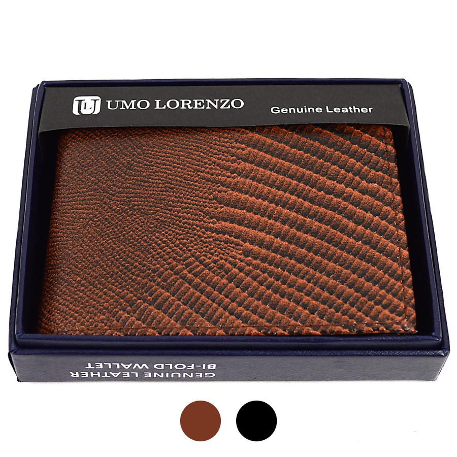 Bi-Fold Genuine Leather Lizard Wallet MGLW-A36L