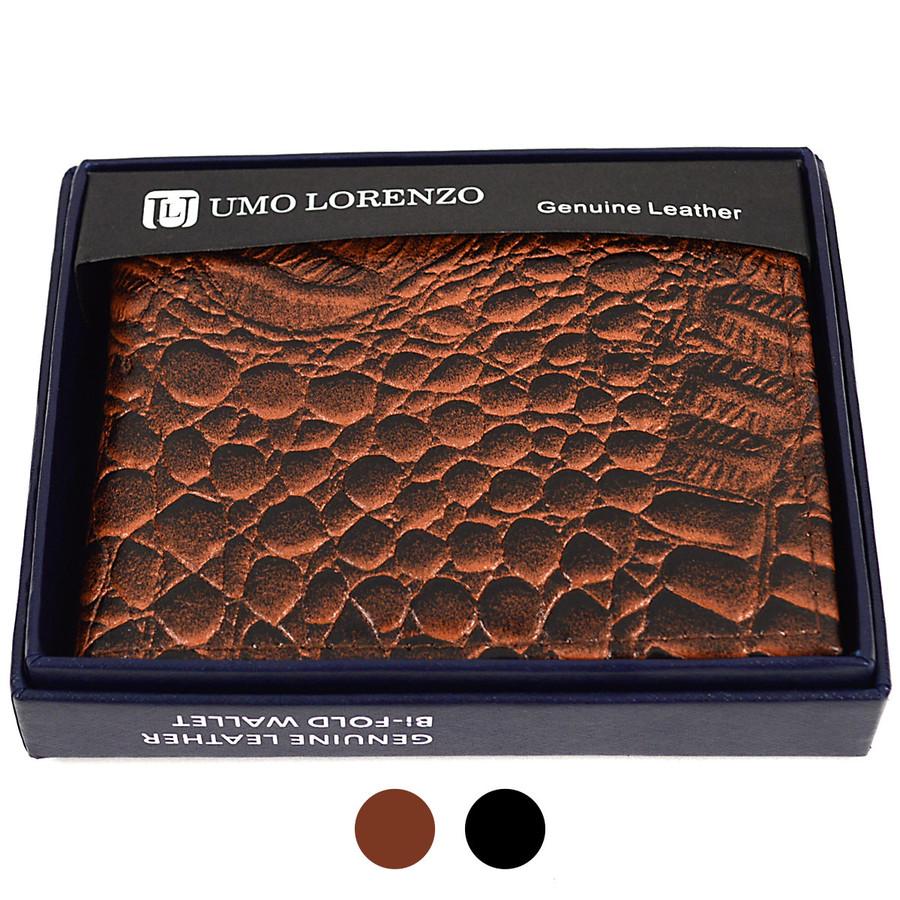 Bi-Fold Genuine Leather Crocodile Wallet MGLW-B27C