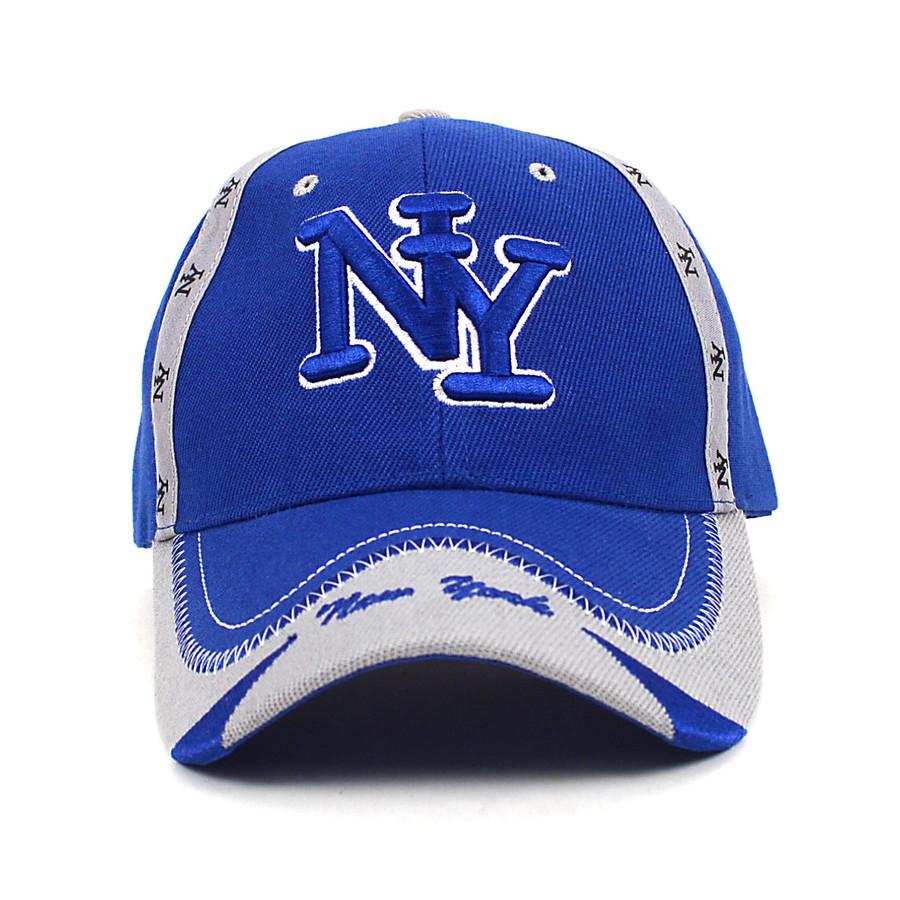 New York Blue & Gray 3D Embroidered Baseball Cap, Hat EBC10292