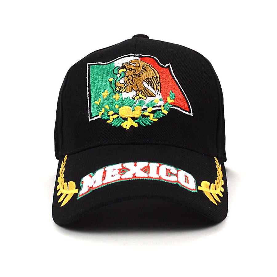 Mexico Black 3D Embroidered Baseball Cap, Hat EBC10300