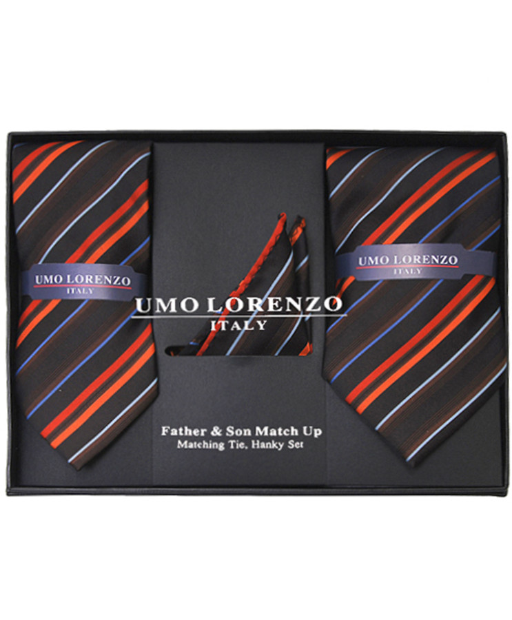 Father & Son Matching Tie & Hanky Set FSTHB-15