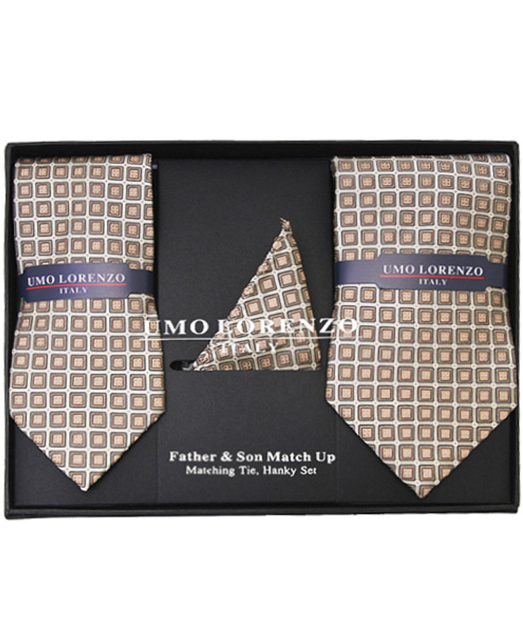 Father & Son Matching Tie & Hanky Set FSTHB-20