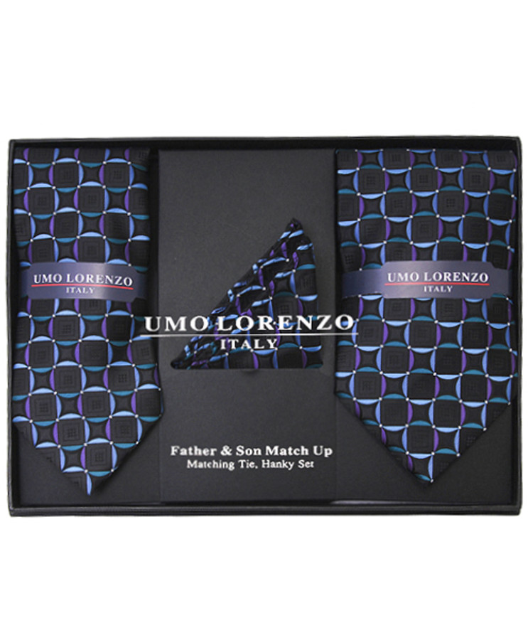 Father & Son Matching Tie & Hanky Set FSTHB-21