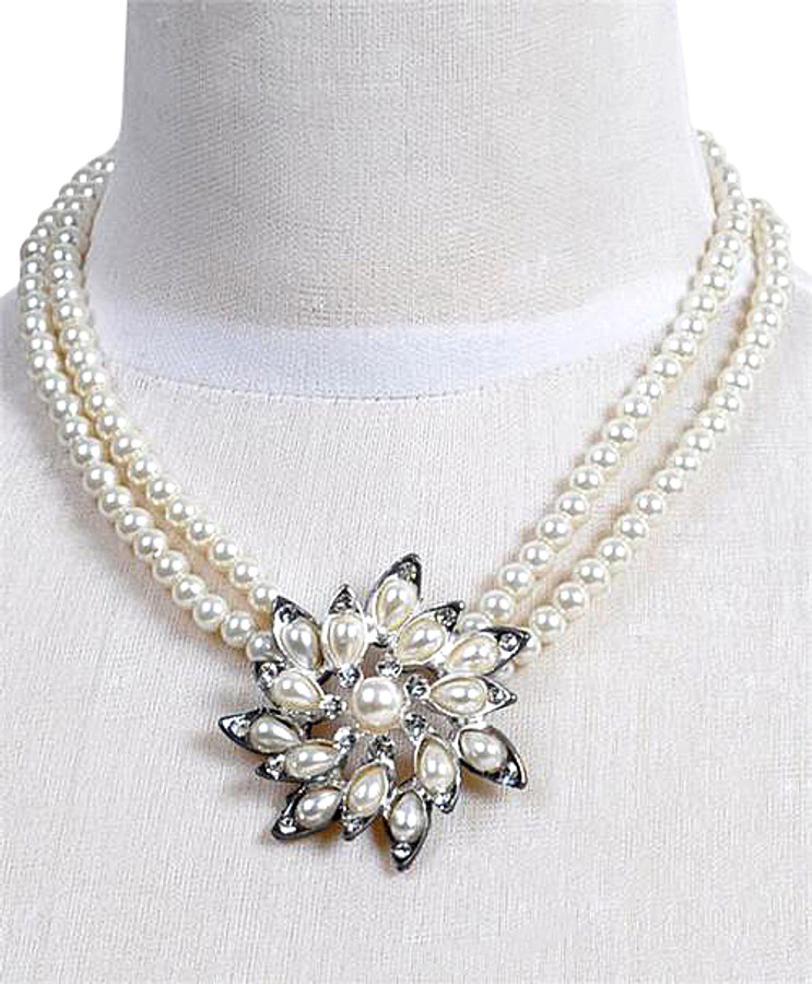 Pendant Necklace and Earrings Set - IMJS0509