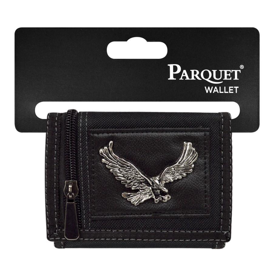 Men's Polyester Large Eagle Tri-fold Velcro Wallets