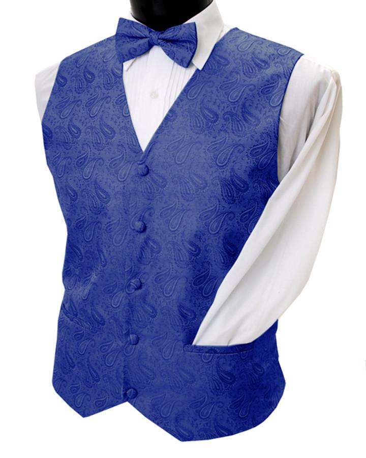 """""""Paisley"""" Men's Poly Woven Vest PMV3310"""