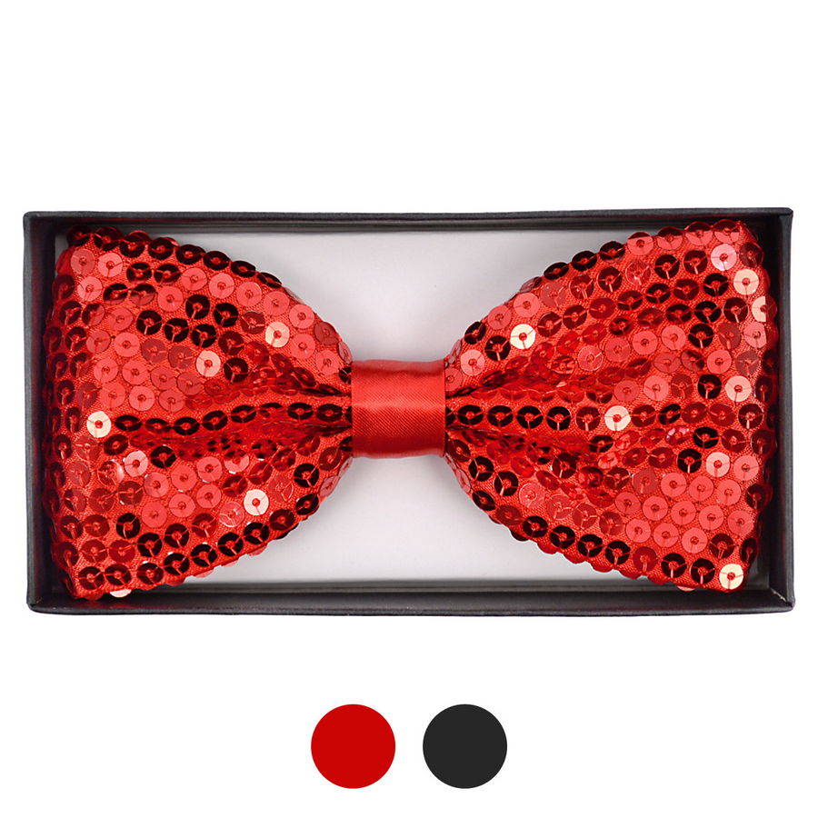 Men's Big & Tall Sparkle Sequin Banded Bow Ties