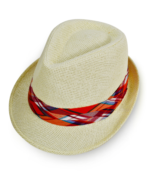 a77cb706036 6pc Women s Natural Paper Poly Plaid Red Band Fedora Hats by Westend