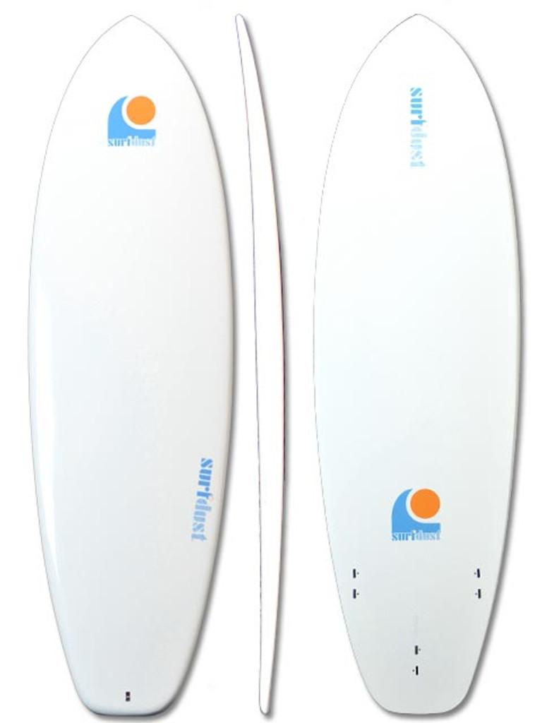 SURFDUST - 6ft Round Tail Mini-Mal Epoxy Surfboard - Surfing