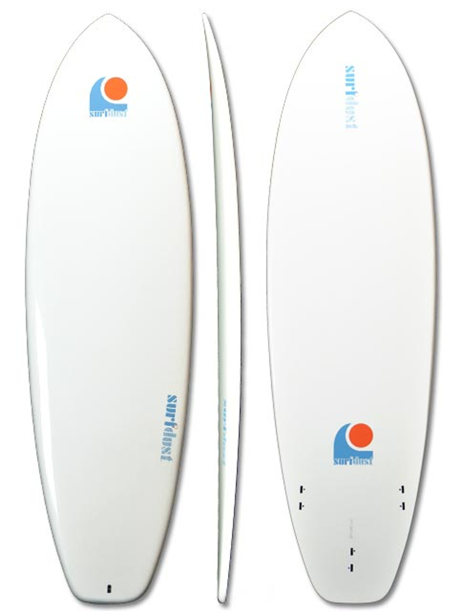 SURFDUST - 6.4ft Mini-Mal Epoxy Surfboard - Surfing
