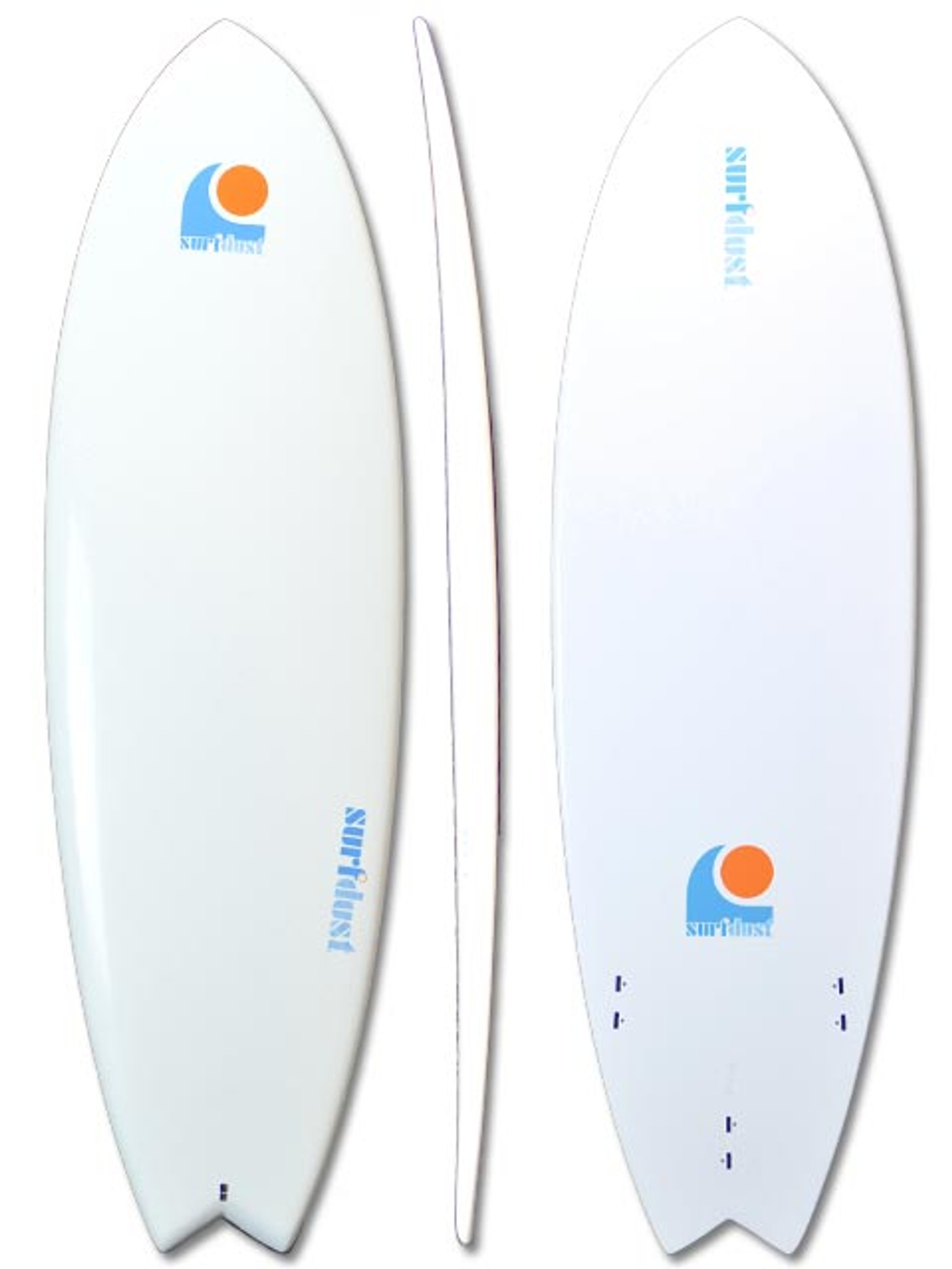 SURFDUST - 6ft Fish Tail Mini-Mal Epoxy Surfboard - Surfing