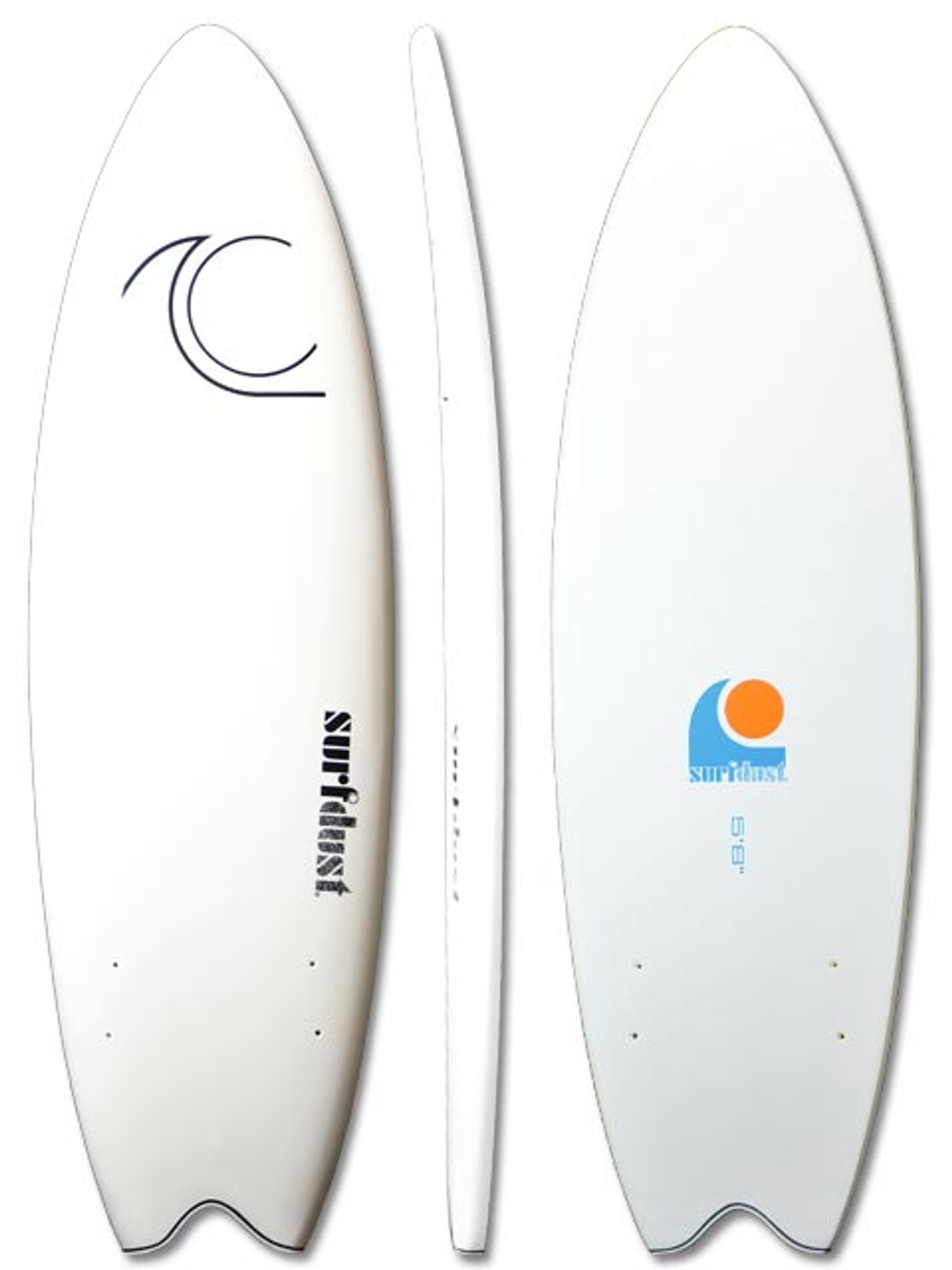 SURFDUST Primo 5.8ft Fish - Softboard - Twin Fin - Surfing