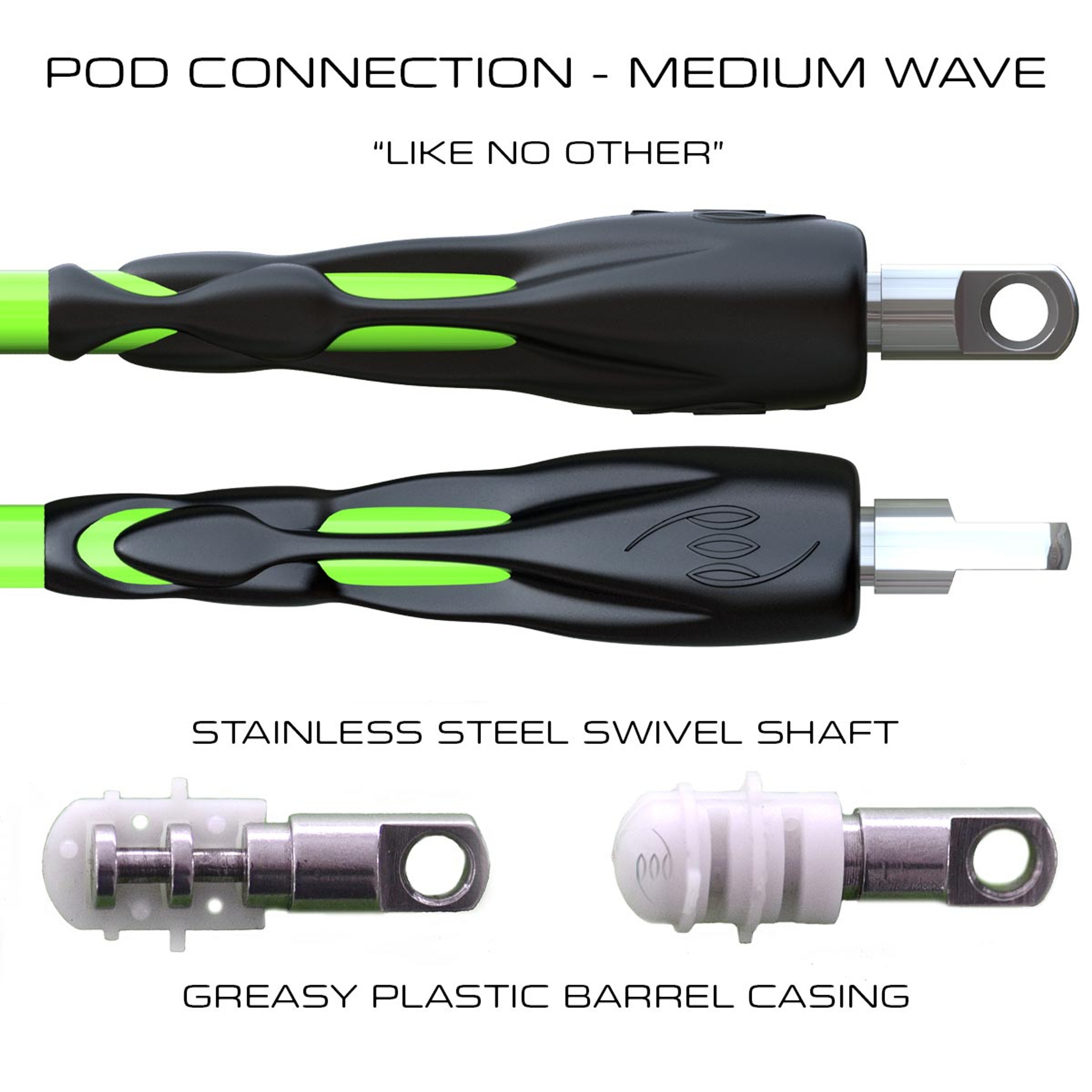 POD Connection 8ft Leg Ropes - Surfing Medium Waves