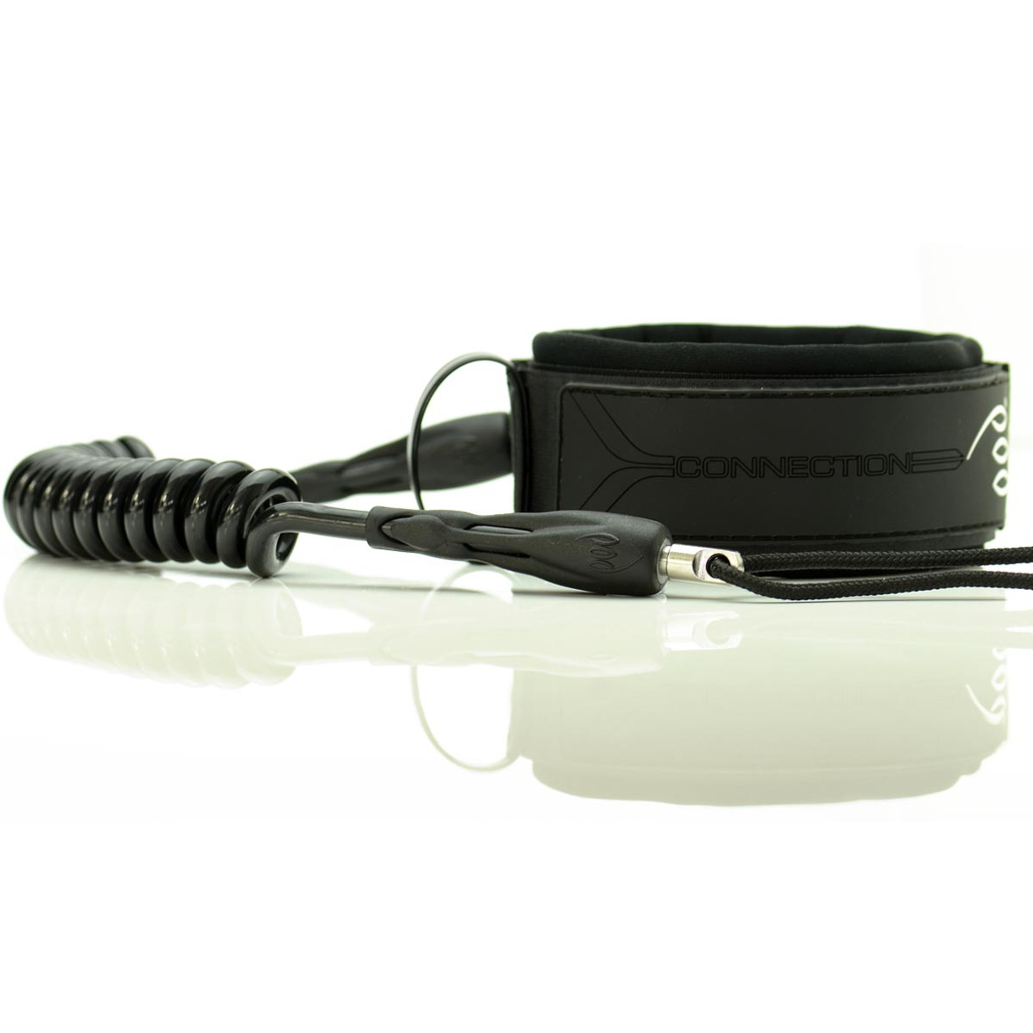 Extra Large Bicep Leashes - Stealth Black Badge Solid Black Cord