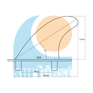 SURFDUST Fins SD4 Size Details