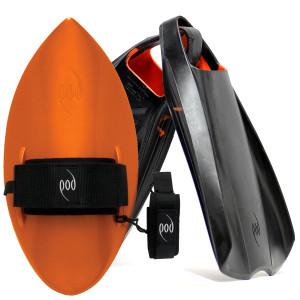 POD Fins PF2s Black/Orange - Orange POD Handboard